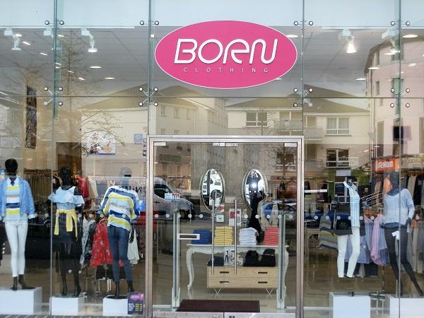 born ladieswear store front