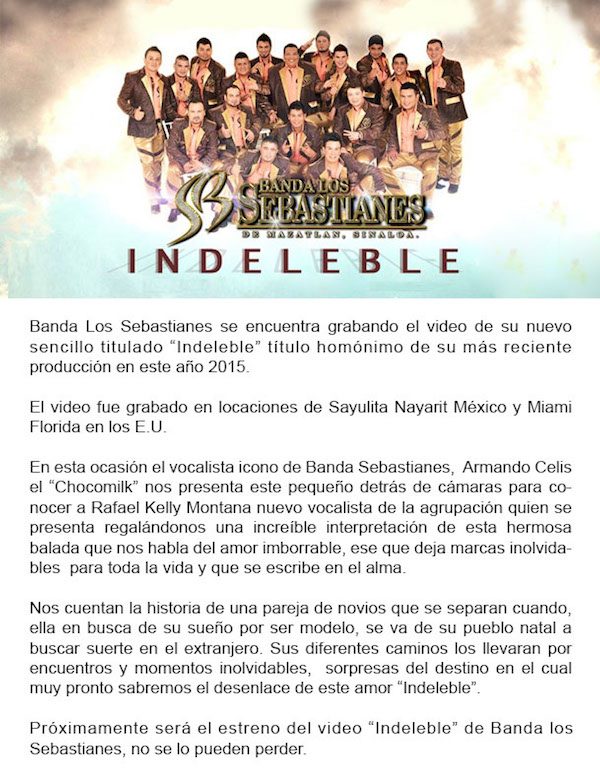 Banda Los Sebastianes presenta Indeleble