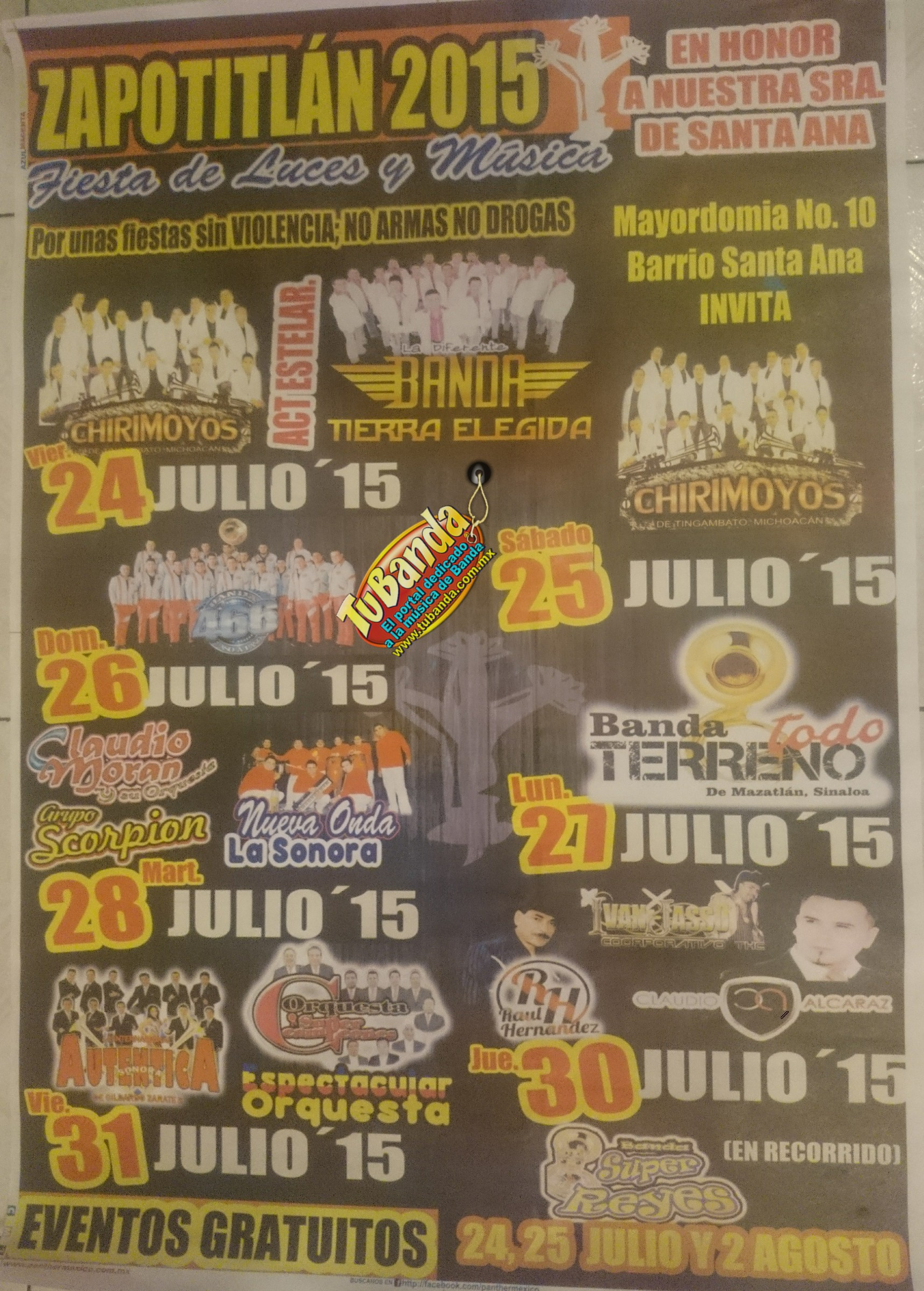 Zapotitlan julio fiesta 2015