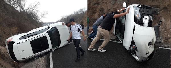 El Yaki - Accidente