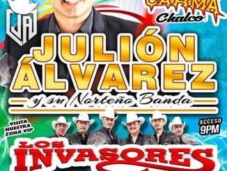 20 de julio llega el Rey de la Taquilla a Mega Espectaculos Carma de Chalco.. Julión Álvarez y su norteño banda. Los Invasores de Nuevo León. Banda La Ejecutiva