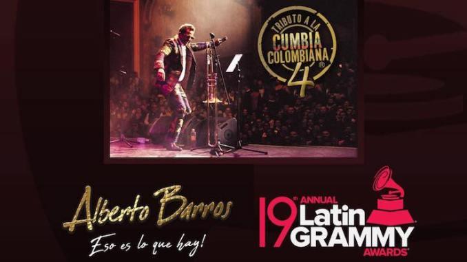Alberto Barros es nominado al Grammy Latino 2018