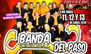 Este 11, 12 y 13 de abril 2019 llega a San Pablo Chimalpa, Cuajimalpa, La Banda Regional del Paso y el Domingo 14 de abril 2019 Salomon Robles y Sus Legendarios.