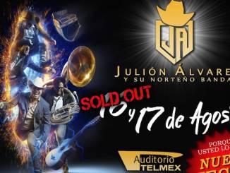 Julión Álvarez agota localidades y abre nueva fecha para el Auditorio Telmex
