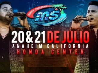 Banda MS llega al Honda Center de Anaheim, California este 20 y 21 de julio 2019.