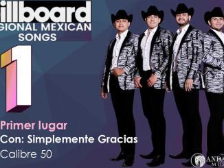 """Calibre 50 se apodera del primer lugar del chart regional mexicano de Billboard con """"Simplemente gracias"""""""