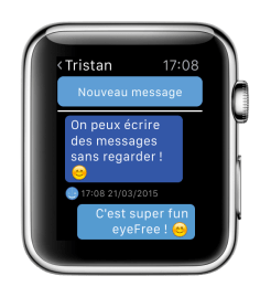 Screenshot Apple Watch - eyeFree Tubaous