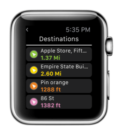 Screenshot Apple Watch - Explorer GPS Tubaous