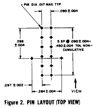 B-5750S (Burroughs) Nixie Röhre- Nixie Tube