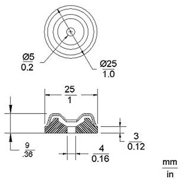 Metal Amp Glides with rubber insert