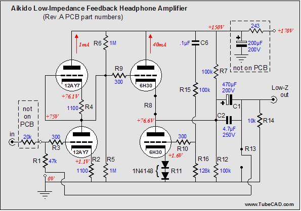 Aikido 9-pin Low-Impedance Headphone Amplifier