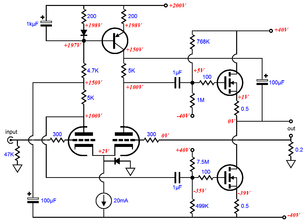 tube headphone schematic on hi fi audio power amplifier schematic