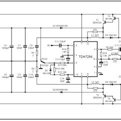 100w Subwoofer Amplifier Circuit Diagram Crayfish Internal Anatomy Bose Wiring Amp 3710