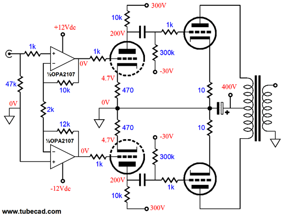 Has anyone used an opamp to split phase for a tube amp