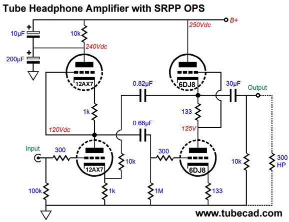 12au7 Headphone Amp Schematic 300B Headphone Amp ~ Elsavadorla