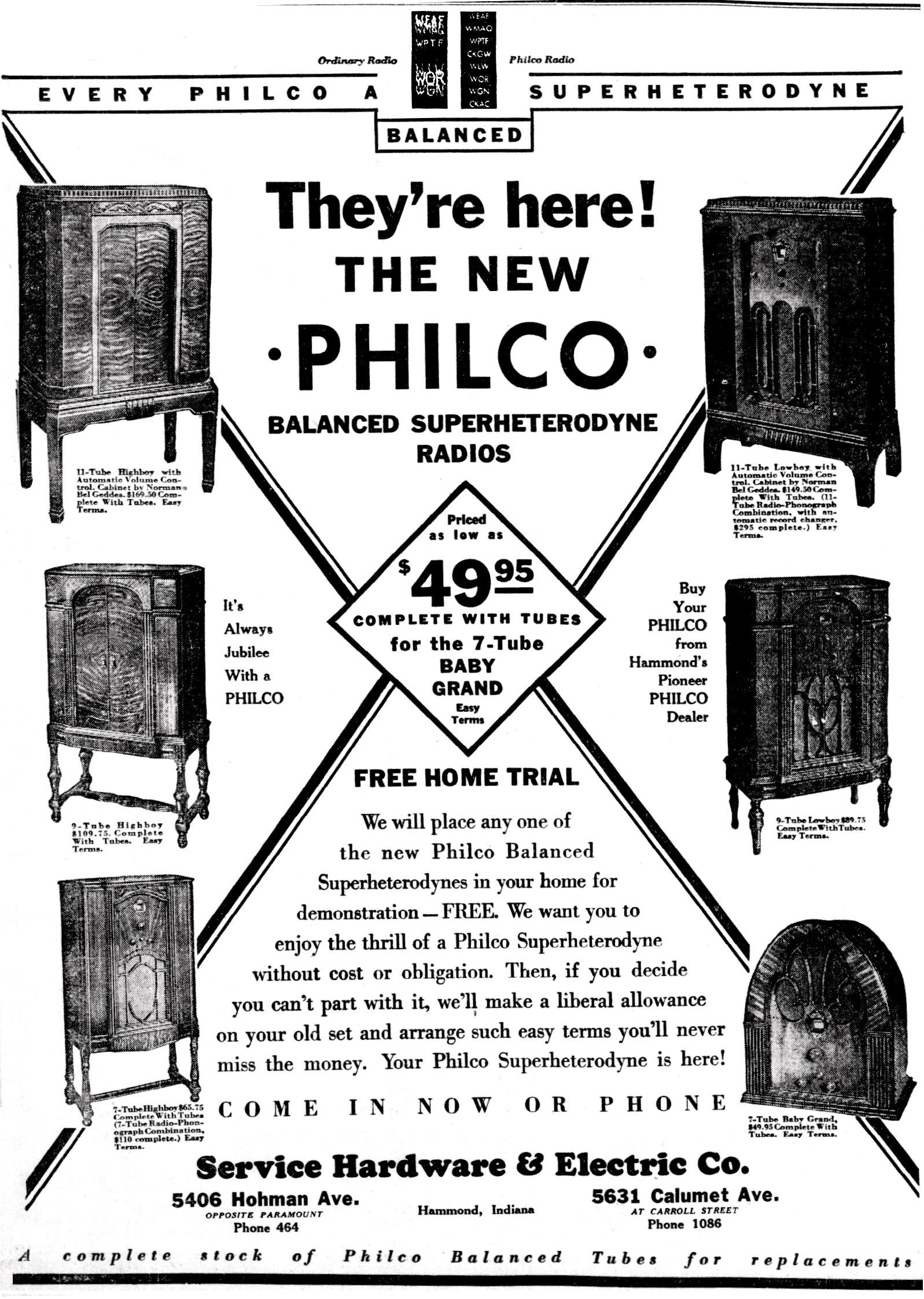 Philco Model 70 Baby Grand Cathedral Radio