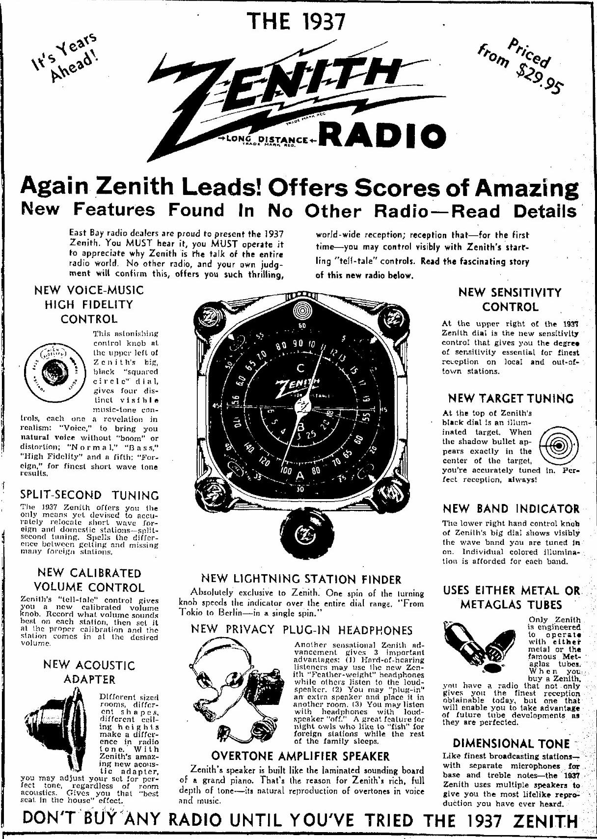 Zenith Model 8 S 129 8s129 Big Pet Tombstone Radio
