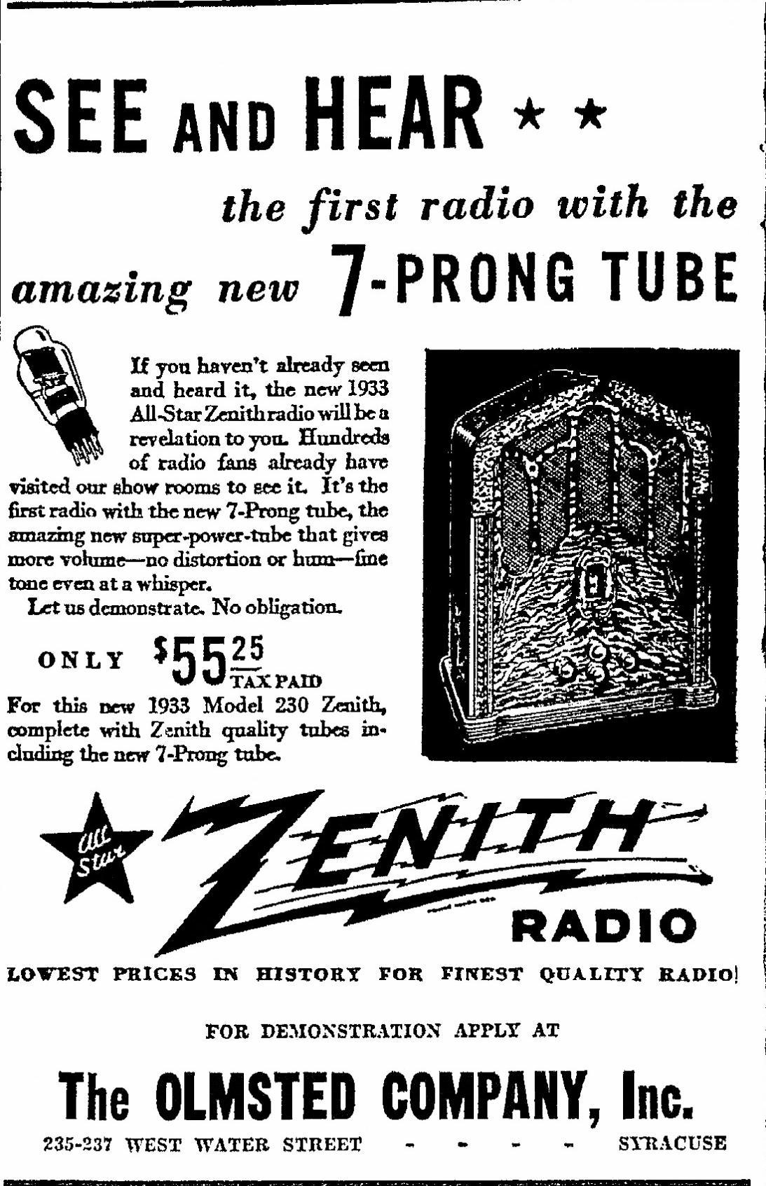 Zenith Model 230 Tombstone Radio