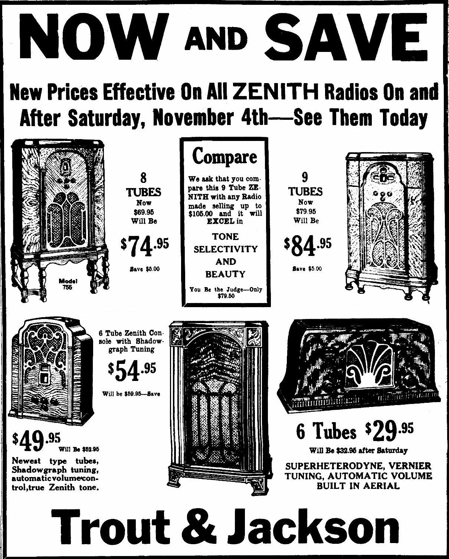 Zenith Model 715 Tombstone Tube Radio