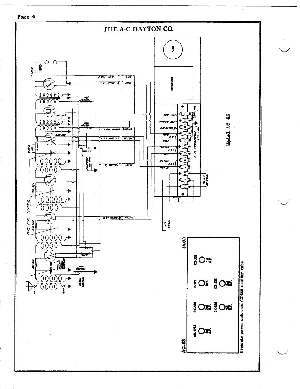 medium resolution of a c dayton company ac63 schematic