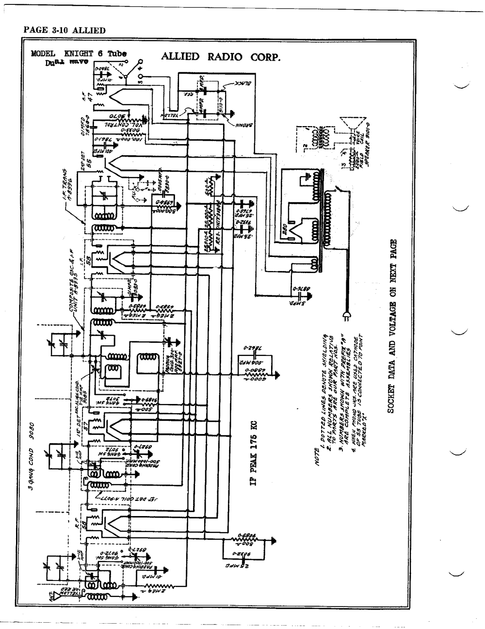 medium resolution of allied radio corp 6 tube dual wave antique electronic supply fm tube schematic tube radio schematics