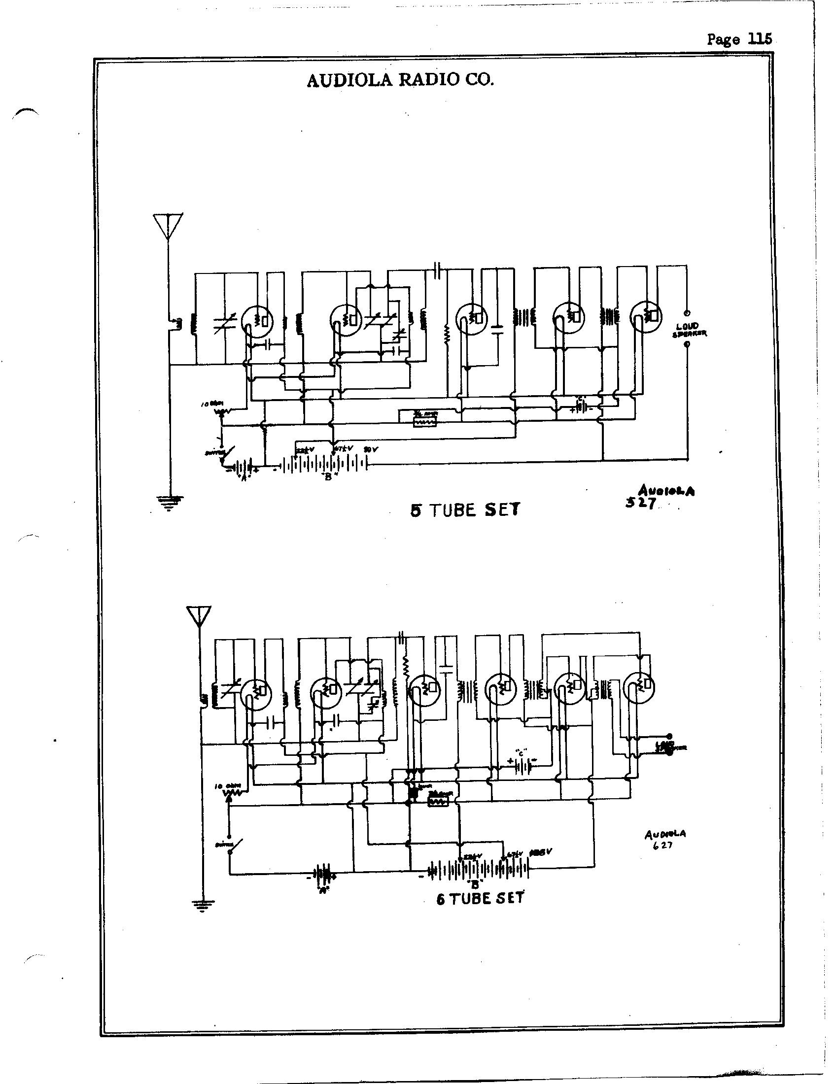 Audiola Radio Co 627 6 Tube