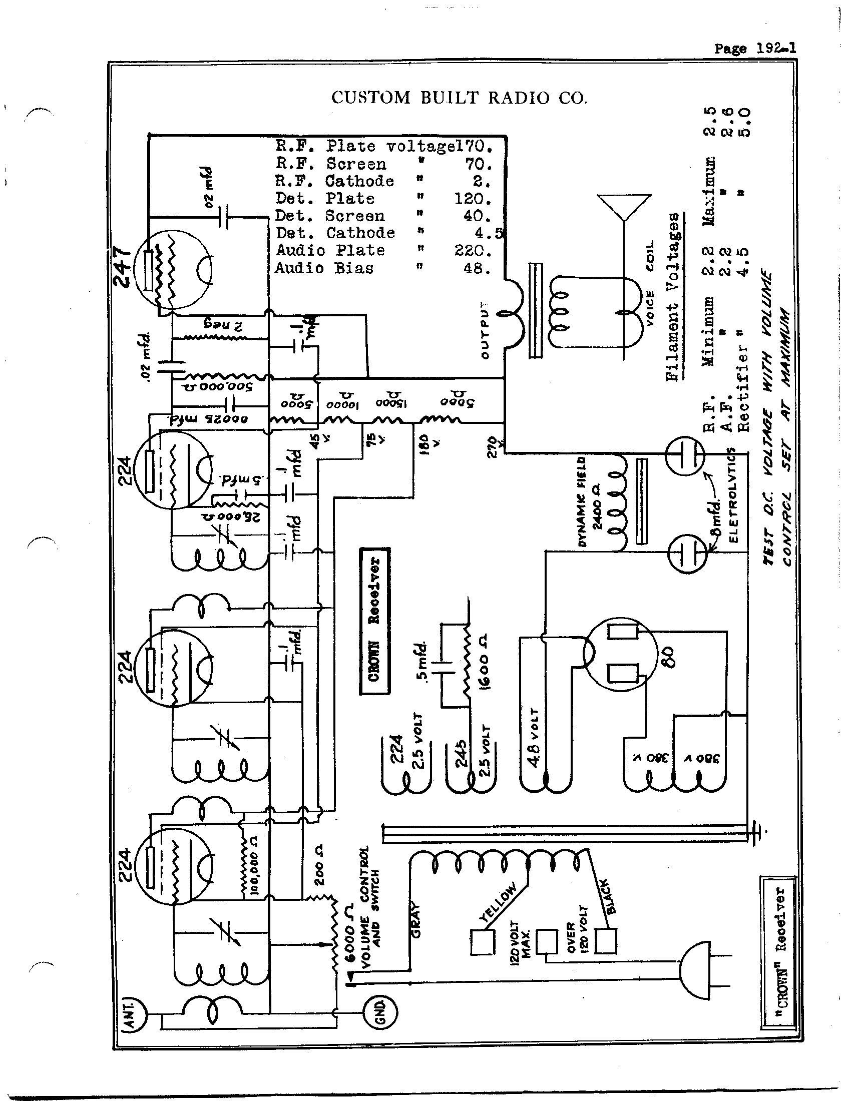 hight resolution of custom built radio co crown receiver antique electronic supplycrown receiver schematic