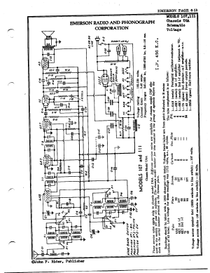Emerson Radio & Phonograph Corp 107   Antique Electronic