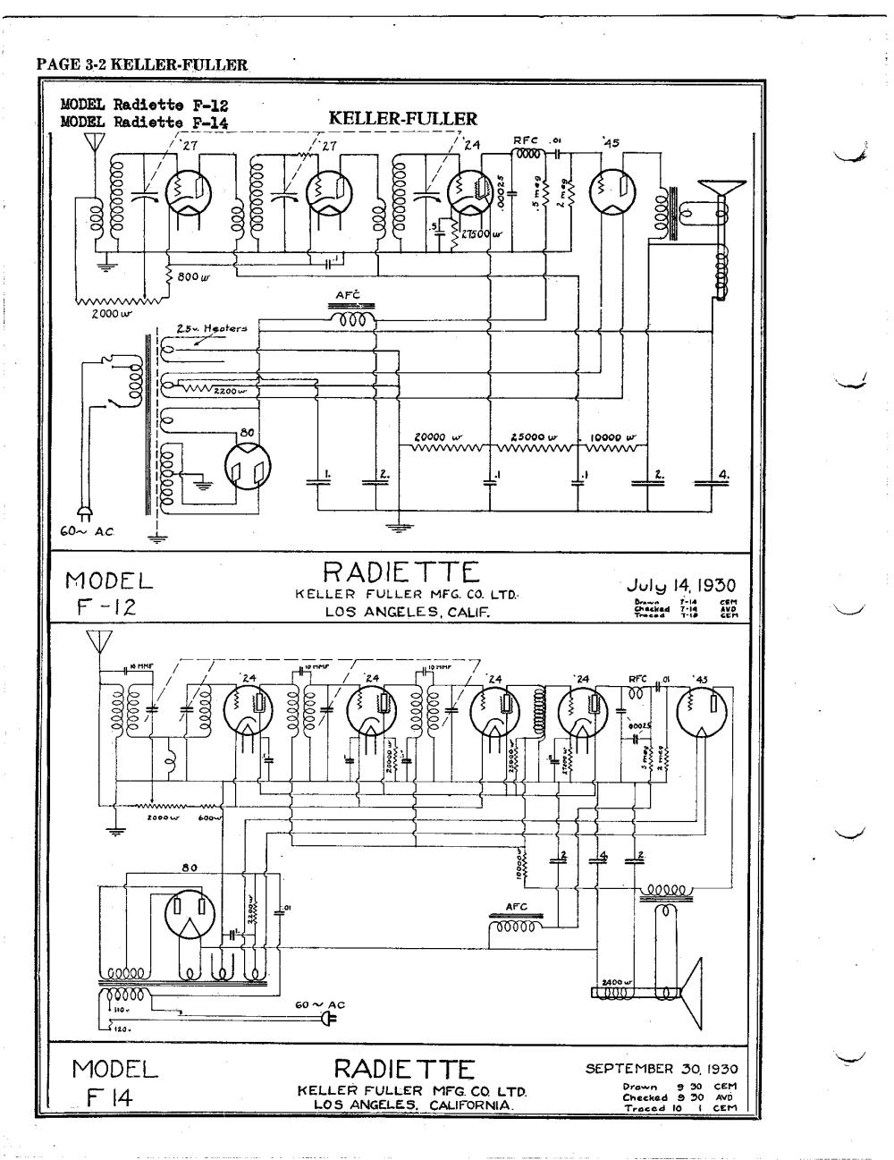 medium resolution of keller fuller radiette f 14 schematic