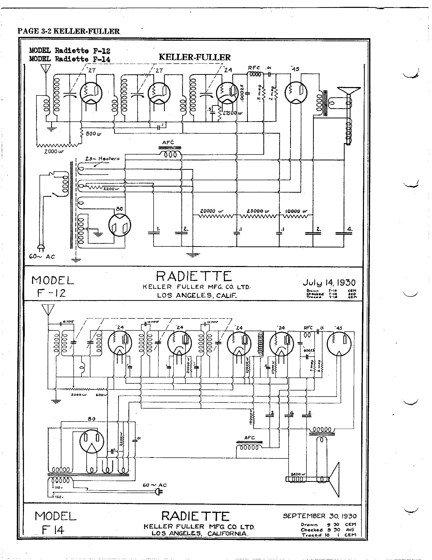 hight resolution of keller fuller radiette f 14 schematic