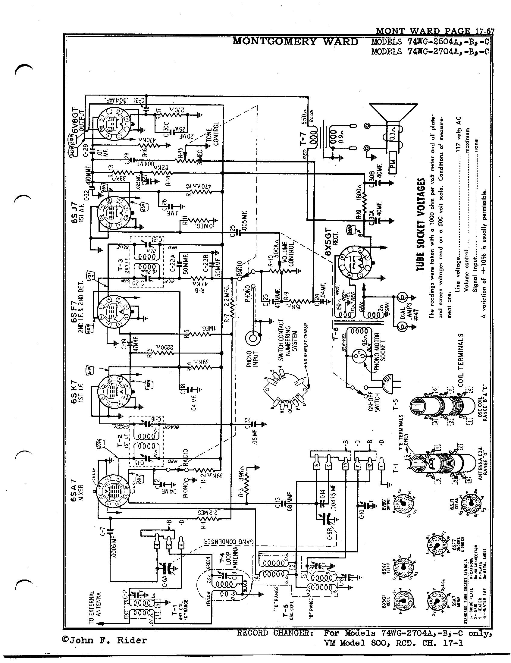 Montgomery Ward Amp Co 74wg A