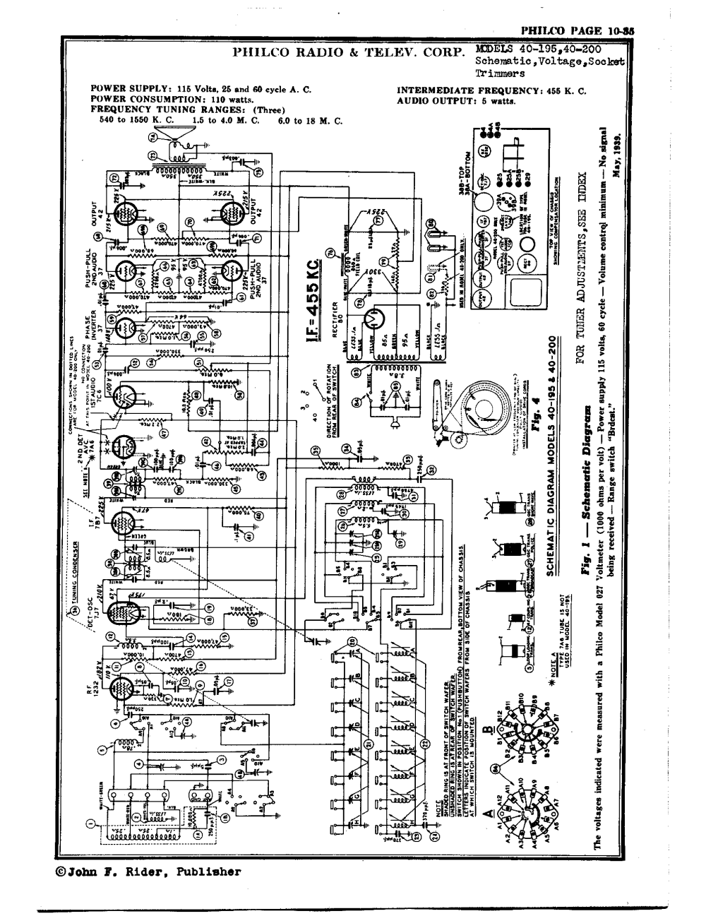 medium resolution of philco radio television corp 40 195 antique electronic supply philco transistor radio philco radio schematics