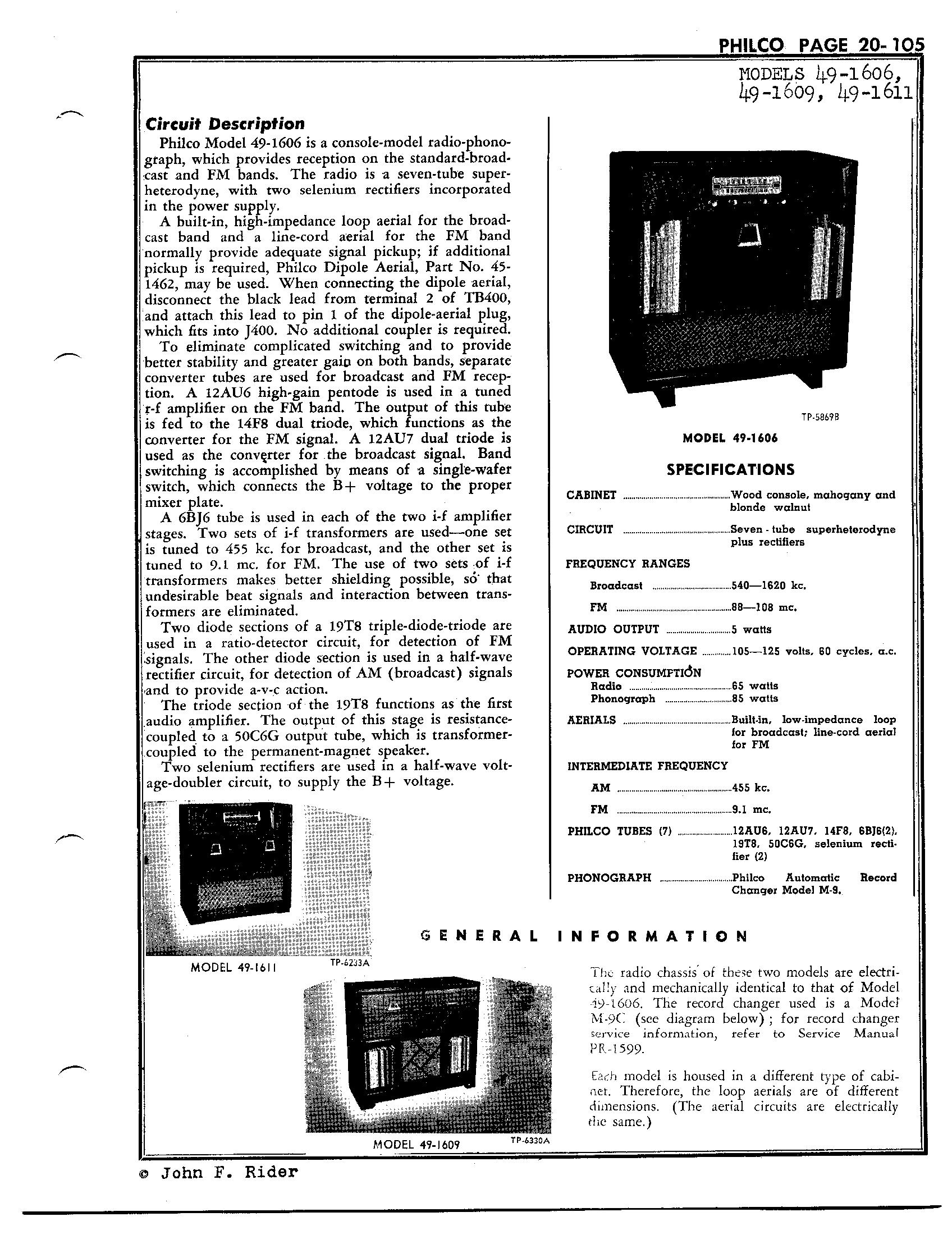 Philco 90 Schematic