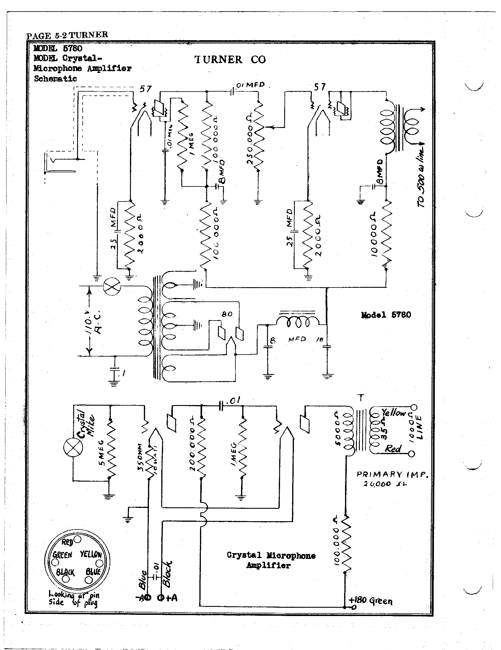 Turner Microphone Wiring Diagram