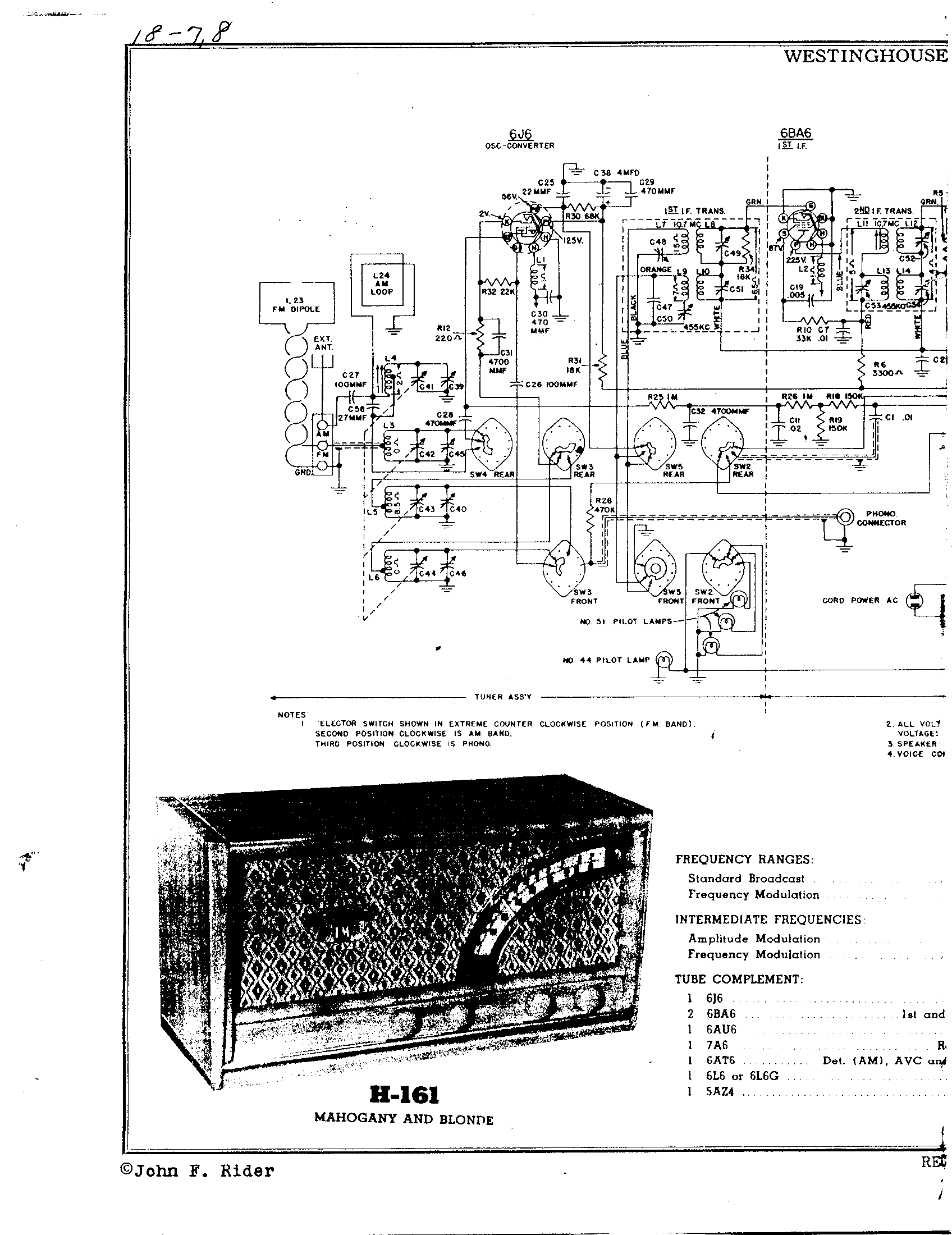 Westinghouse Electric Corp H 168