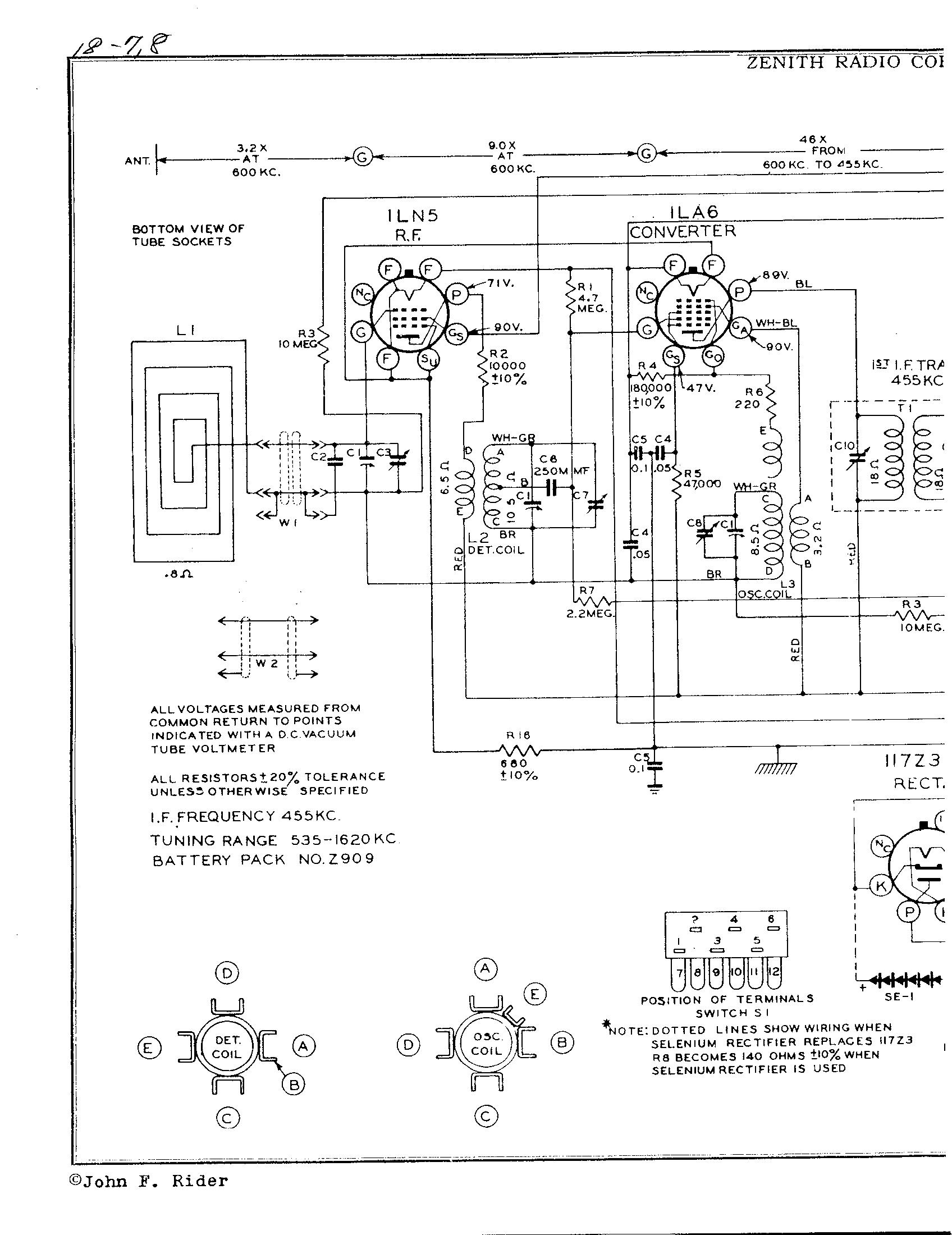 Zenith Radio Corp 6g801