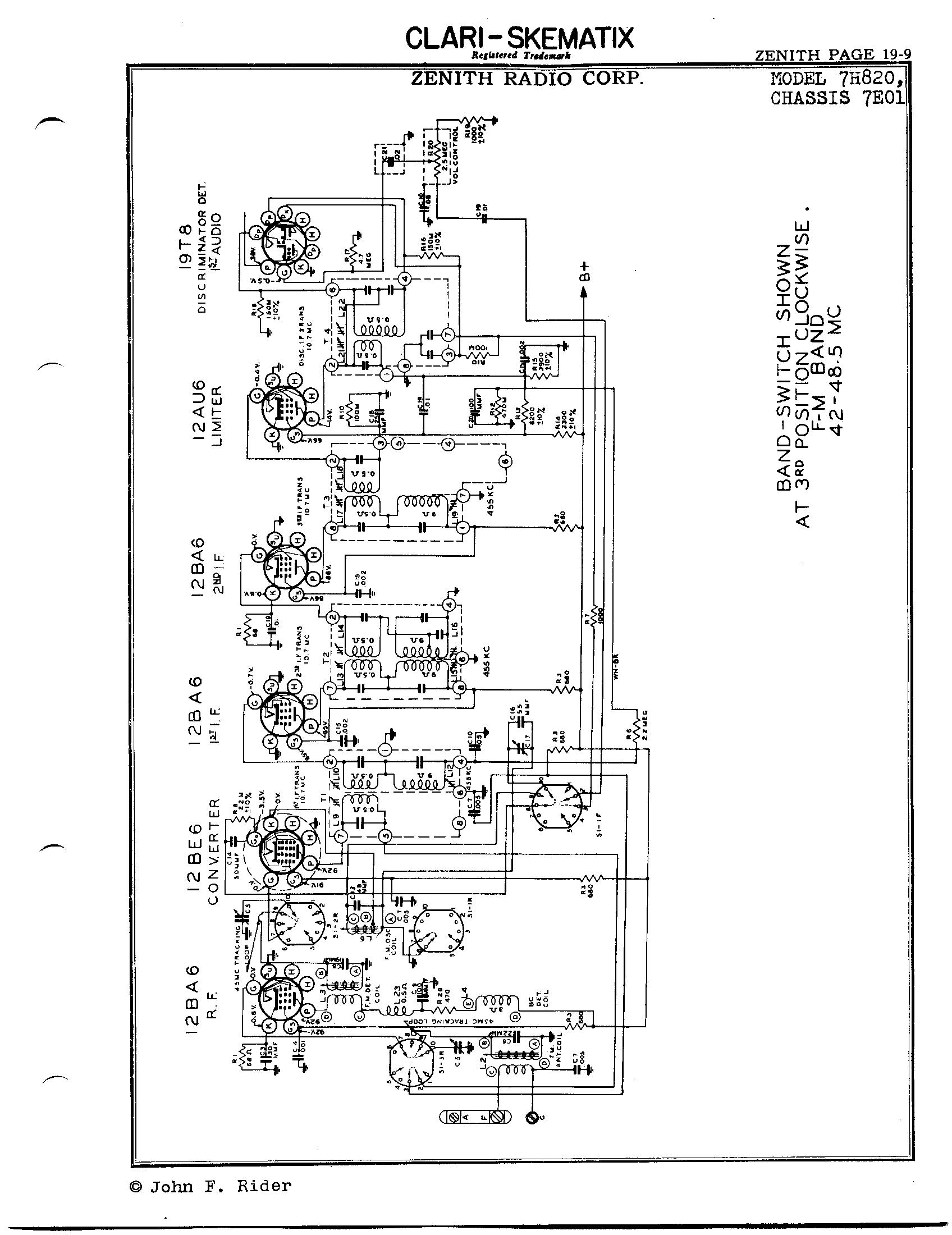 Zenith Radio Corp 7h820