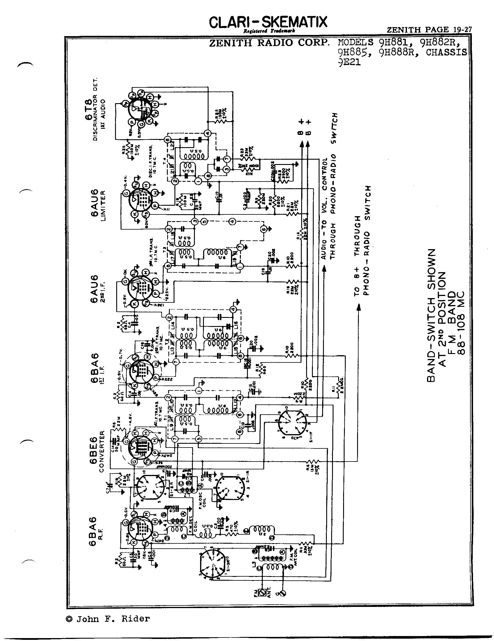 Zenith Radio Corp 9h881
