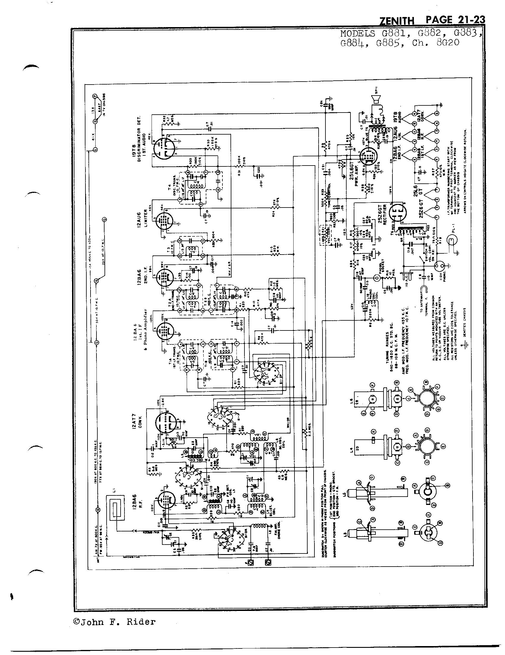 Zenith Radio Corp G885