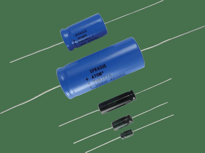Capacitor Sprague Atom Aluminum Electrolytic