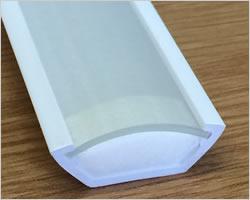 Plastic profiles for LED Strip housingmounting stock