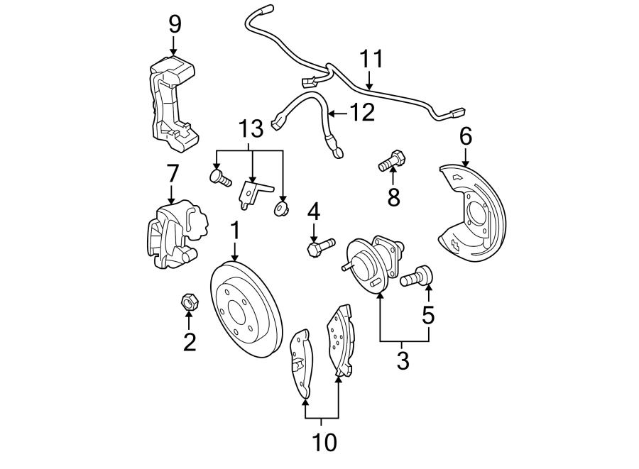 Buick Lesabre Harness. Sensor. ABS. Wire. Rear, Wheel