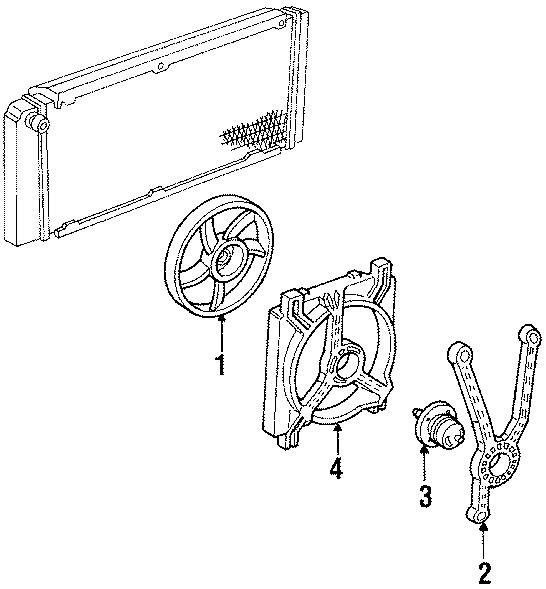 Buick Lesabre Engine Cooling Fan Motor. Left, LITER