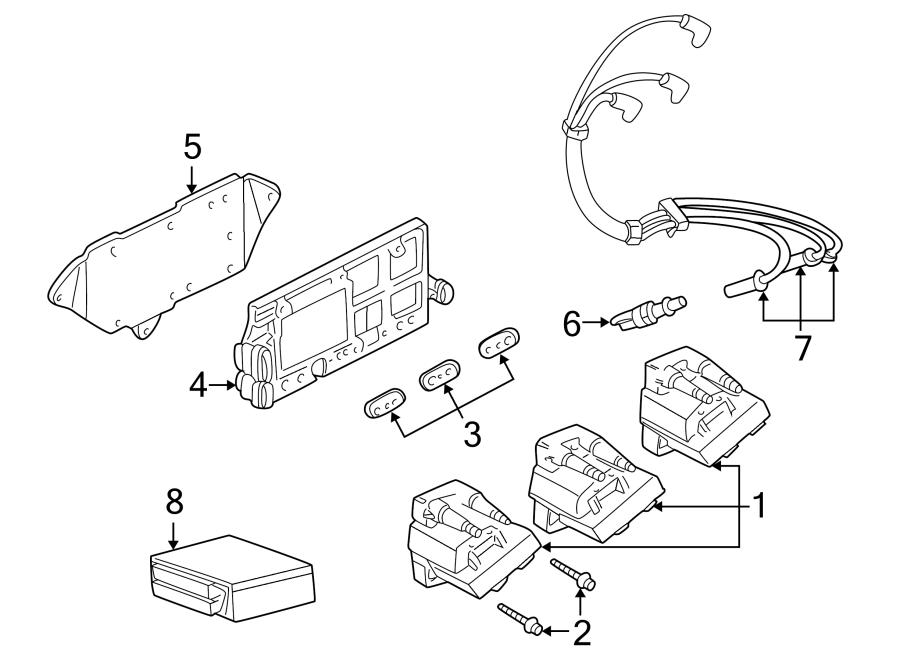 Buick Rendezvous Spark Plug Wire Set. SET. Wire. Plug. KIT