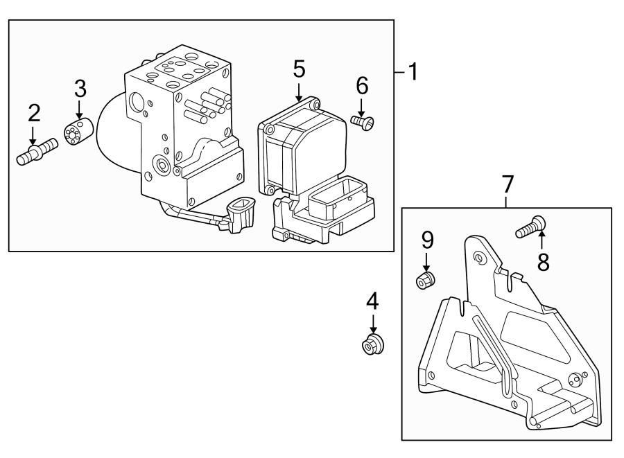 Buick Rendezvous Valve. Modulator. Abs. Control. 3.4 & 3.5