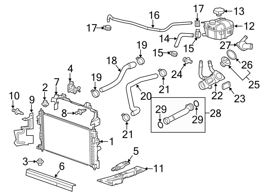 Buick LaCrosse Radiator Coolant Hose (Upper). 2.4 LITER