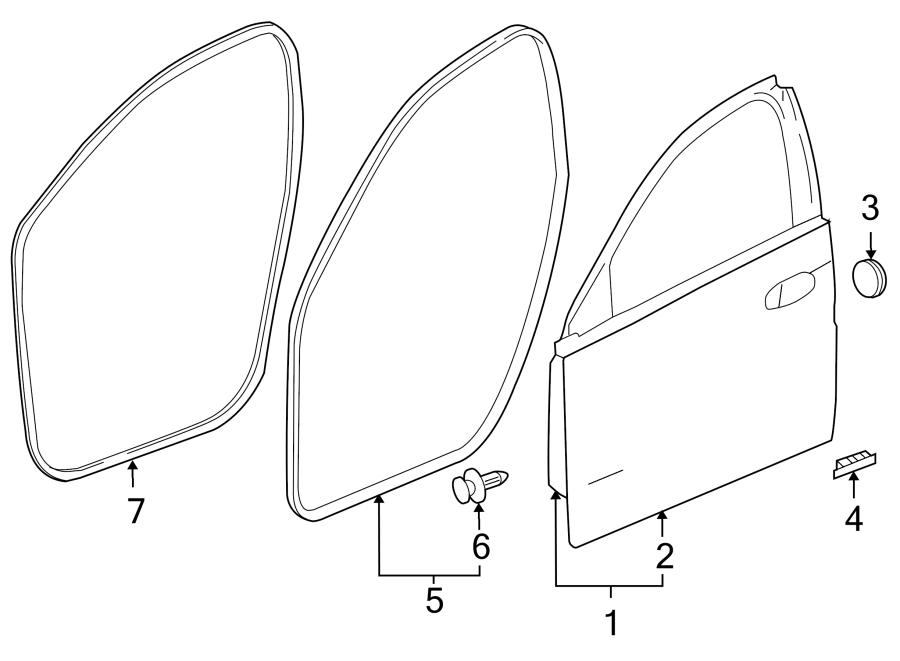 2014 Buick Regal Door Seal Clip (Rear, Upper, Lower). #1