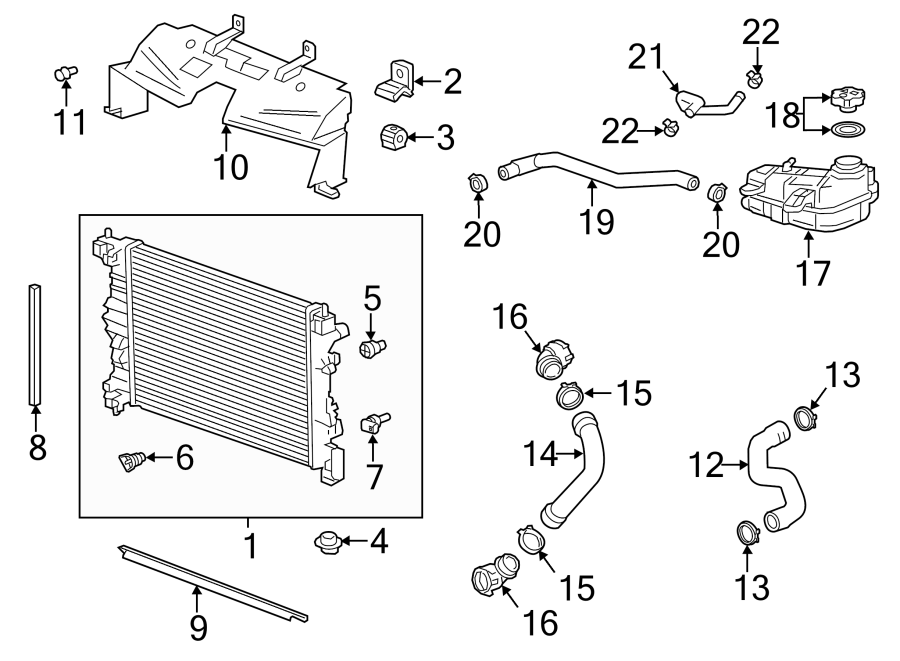 2014 Chevrolet Cruze LT Engine Coolant Temperature Sensor