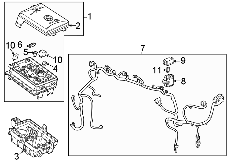 2015 Buick Encore Fuse and Relay Center. ENGINE