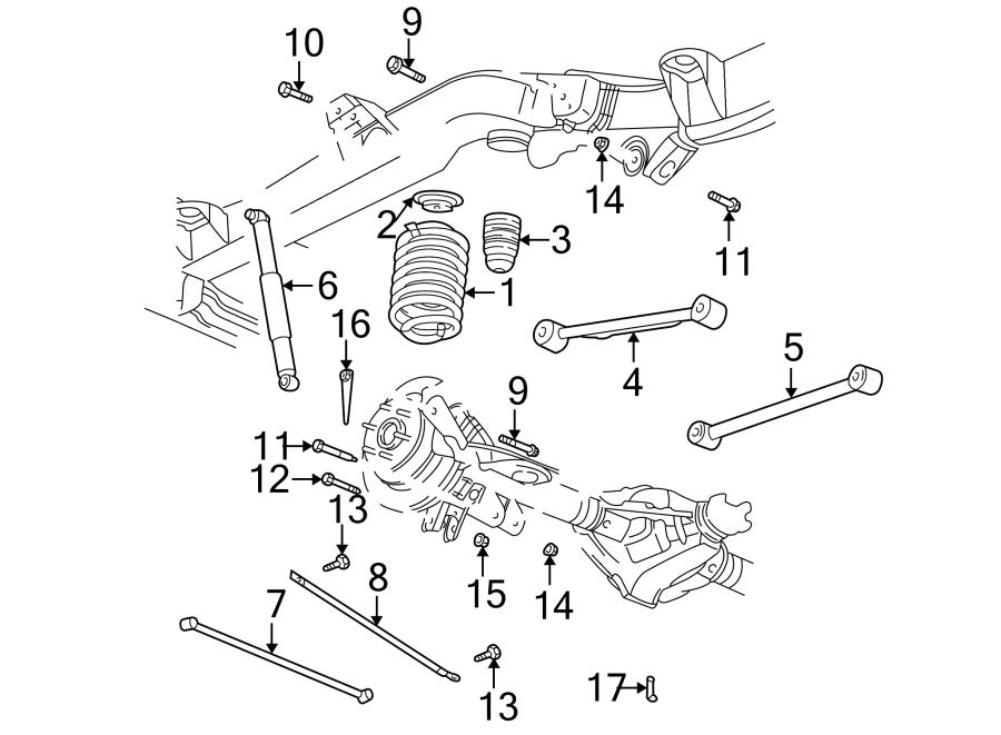 2004 Chevrolet Trailblazer EXT LT Suspension Track Bar